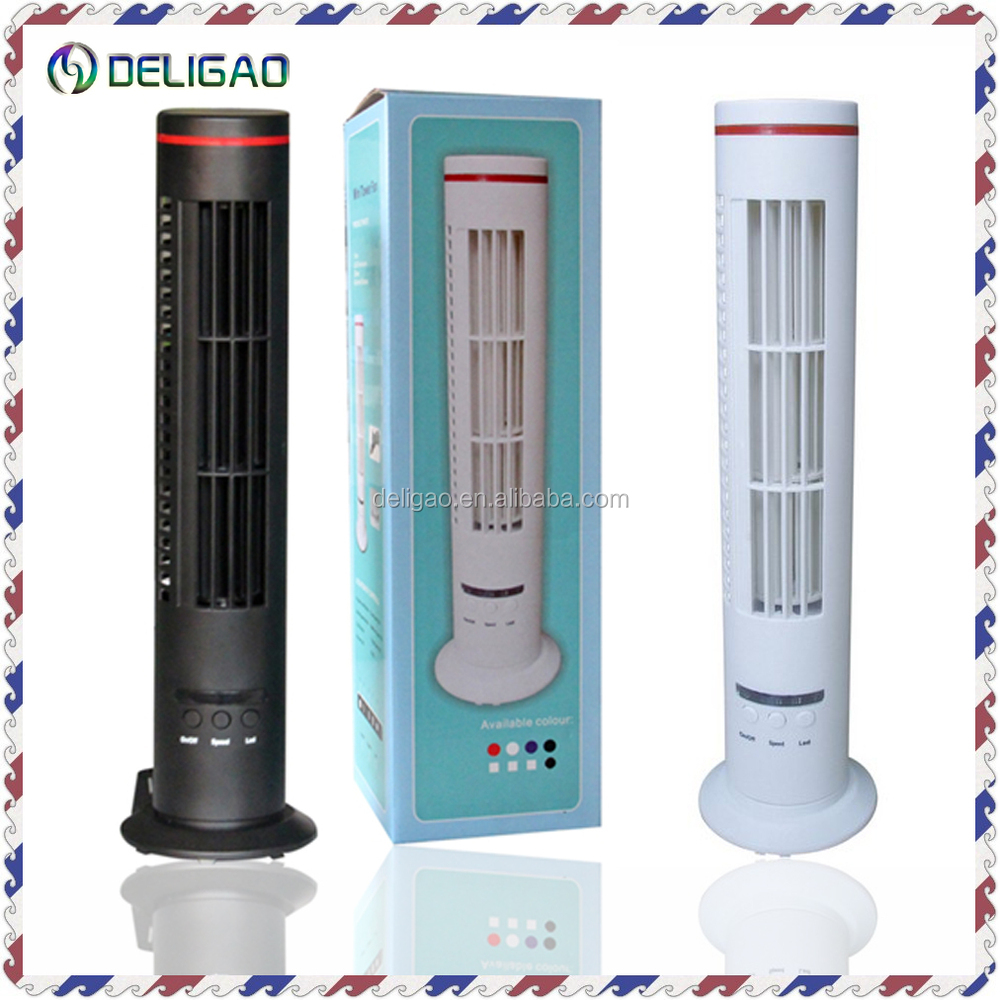 Cooling rechargeable electric tower fan usb fan with LED light & CE/RoHS