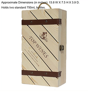 GiftTree Wood Wine Rack,engrave up to 14 Characters-Wine Lover's Gift