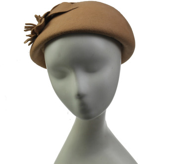 Fancy Yellow Ladies Wool Felt Hats Berets For Derby Party - Buy Party Hats  Berets 4fd8663566f