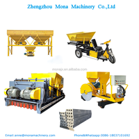 Prestressed concrete slab making machines/precast hollow core slab forming machine
