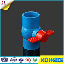 Red Butterfly Handle Plastic PVC Ball Valves