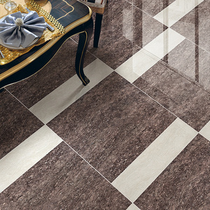 Supermarket Plaza Happy House Living Room Ceramic Porcelain Tile 60 X 60cm