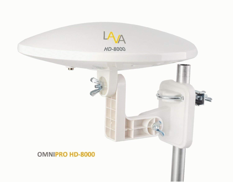 LAVA HD-8000 OMNI-DIRECTIONAL 360° DEGREE, DIGITAL OUTDOOR HDTV AMPLIFIED TV ANTENNA VHF UHF FM
