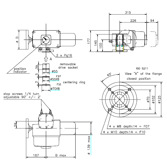 oa15 electric actuator/ quarter turn bernard valve ... ez valve wiring diagram ross valve wiring diagram #10