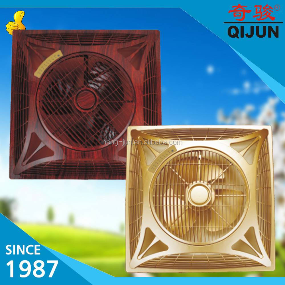 2017 Wholesale Golden Color Ceiling Box Fan Mounted Fan with Light