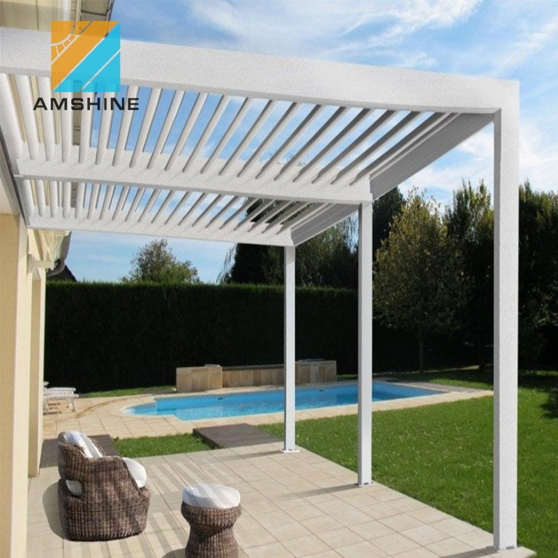 New design aluminum garden pergola with posts supporting