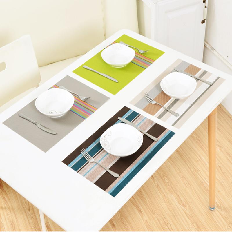 esszimmer tischsets f r tisch w rmed mmung schmutzabweisend k che wasserdichte pvc tischsets. Black Bedroom Furniture Sets. Home Design Ideas