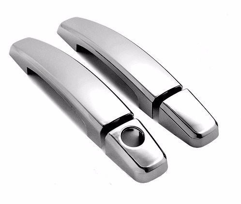 ABS Triple Chrome Plated Door Handle Cover for 10-13 Chevy Camaro 2 Doors Without Passenger Side Keyhole
