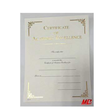 new type college and university certificate paper custom embosser
