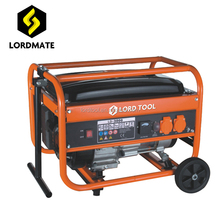 Two sockets 220v 120v power generator gasoline fuel petrol generator portable with wheels