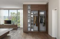 Fashion Design Wooden White Wardrobe Ready to Assemble Bedroom Furniture