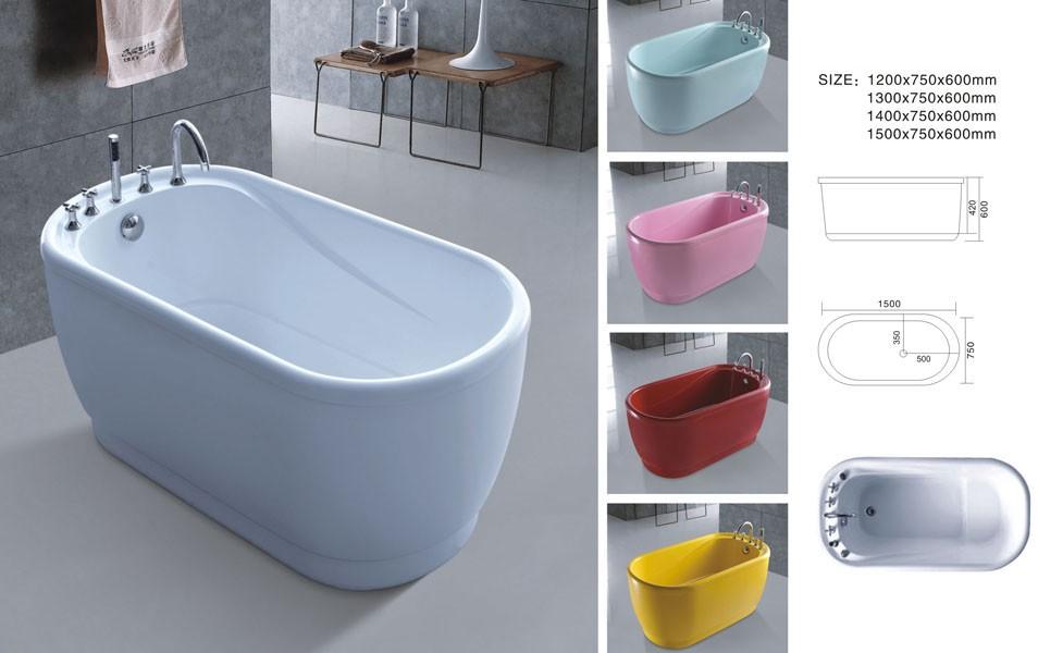 Vasca Da Bagno Colorata : Ovale piccolo freestanding un pezzo vasca da bagno colorato vasca