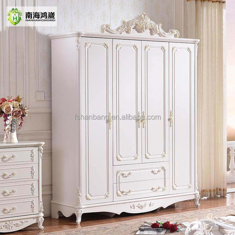 Blanco tallada grande estilo francés madera Panel 4, 5, 6 puerta ...