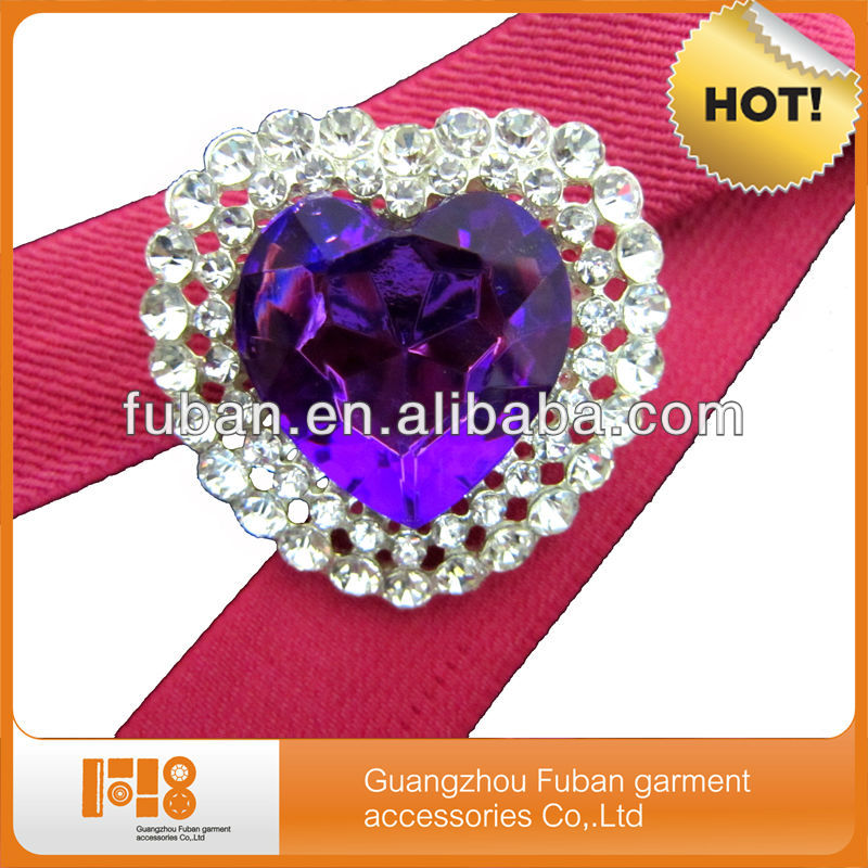 purple heart rhinestone brooch and pins- for wedding cards