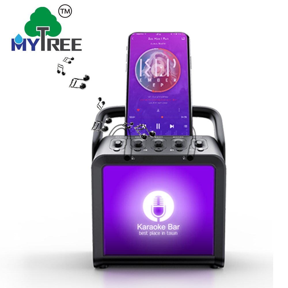 Mytree trolley karaoke portable waterproof wireless car plastic pa mini home theater speaker system speaker