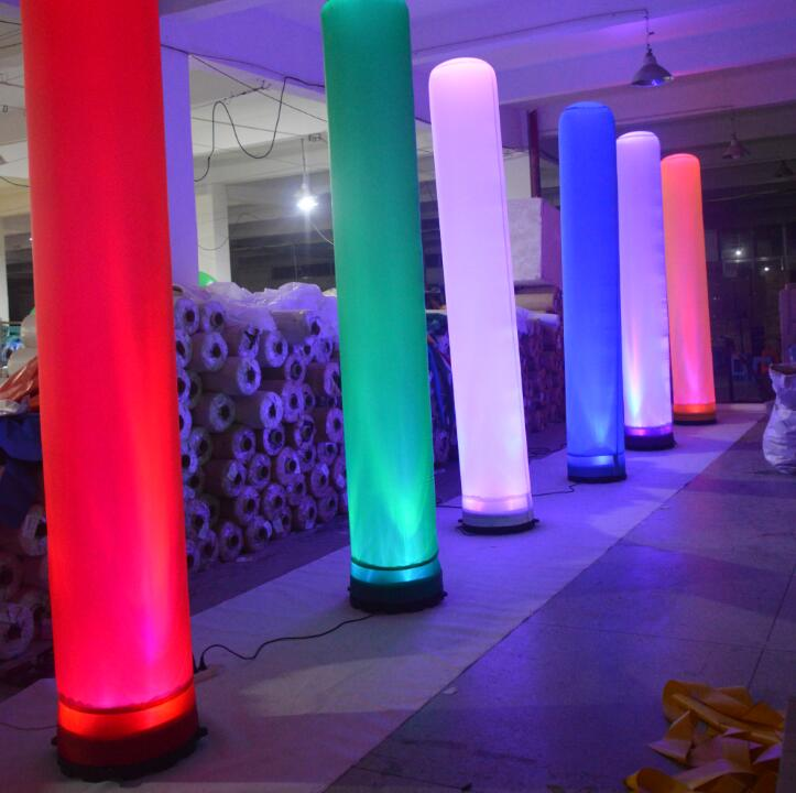 Color Changeable Inflatable Column Led Lighting W6019