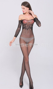 The sleeve of temptation In Italy conjoined sleeve fishnet stockings girls sexy photo bra set skin-tight bikini lingerie