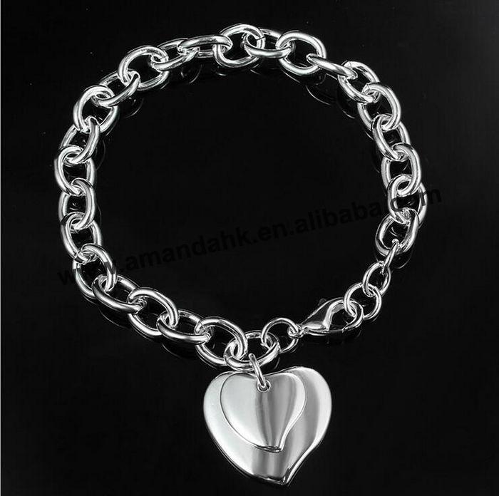 4f44ed3e2d2c Lujo marca famosa amor pulsera joyería fina pulsera de corazón pulsera  reloj de pulsera ...