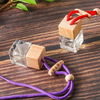 Transparent hanging decoration car diffuser perfume bottle