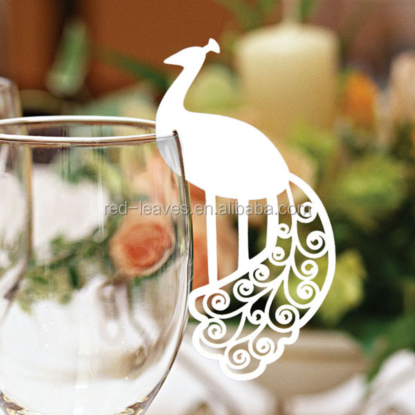 2015 guangzhou made laser cut wedding place card bird table place card for wedding table decoration or christmas card holder