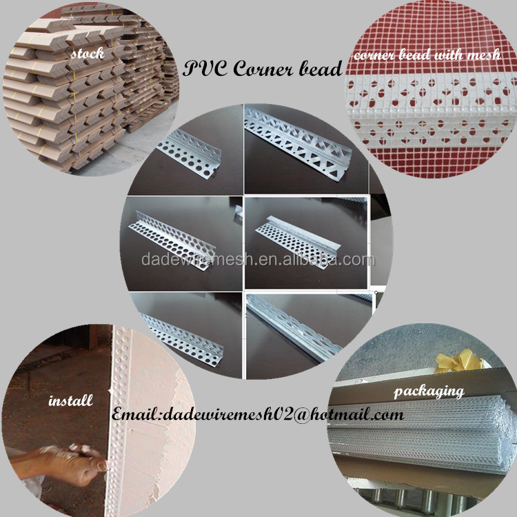 plaster wall protection tile corner bead/ Galvanized steel Anping HOT SALE Corner Bead