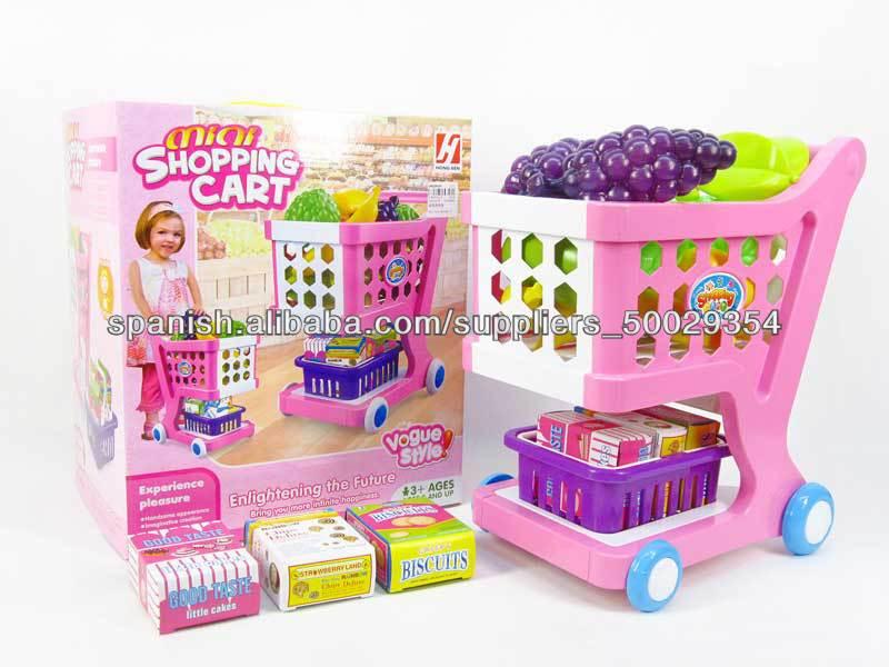 nios de nuevos productos de plstico juego de cocina cesta de la compra juguetes para