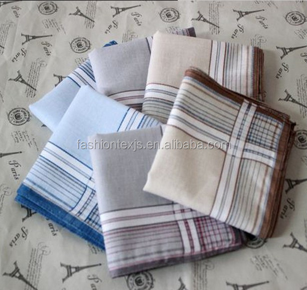 China popular cheap cotton custom printed men's handkerchief