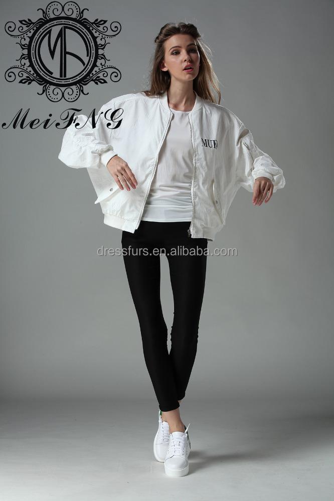Fahsion Blanco El De Abrigo Estilo Para La Diseño Calle Mujeres fWtw6TaX