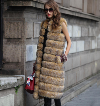 European and American imports of fox fur long vest
