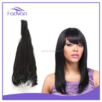 Grade 7A Human Hair Of Micro Loop Brazilian Remy Pre Bonded Natural Hair Extensions