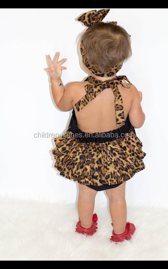 Nueva Venida Precioso Ninos Boutique De Ropa De Leopardo De La - Ropa-de-moda-para-bebe-de-un-ao