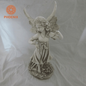 OEM&ODM UV Proof Garden Decoration Lively Small Resin Craft Angel For Sale
