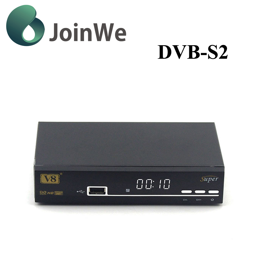 JoinWe open tv box V8 super Freesat DVB-S2 Full hd <strong>satellite</strong> receiver strong free iptv decoder support powervu