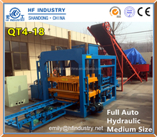 QT4-15 automatically hydraform press method brick making machine price list for sale
