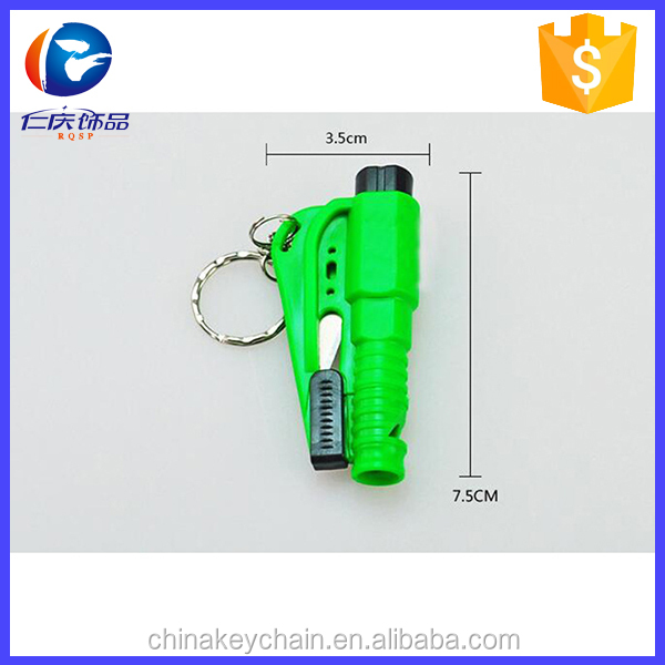 Promotional giveaways hot Resqme quick car escape tool key chains hard plastic key chain escape tool for life