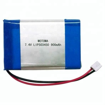 Flat Lithium Battery 74V 503450 900mAh Ion Polymer For Bluetooth Headset