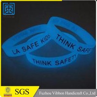 Give-away glow in the dark silicone wristbands for events