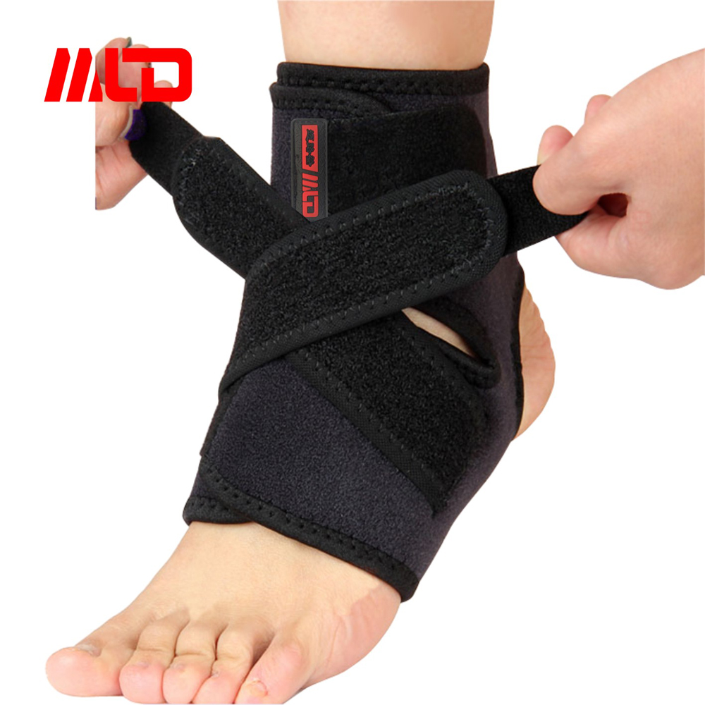 Sport Adjustable Neoprene Ankle Support/Ankle Brace/Breathable Compression Strap for protection-Relieve Pain