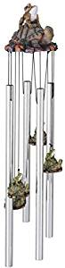 StealStreet SS-G-41954, Round Top Frog Turtle Hanging Garden Porch Decoration Decor Wind Chime