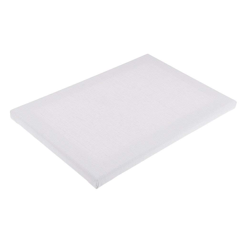 Homyl Professional Quality Canvas Panel Board Plain White Artist Blank Cotton Square Stretched Canvas Board for Art Oil Acrylic Painting Supplies - 30x40x1.6cm