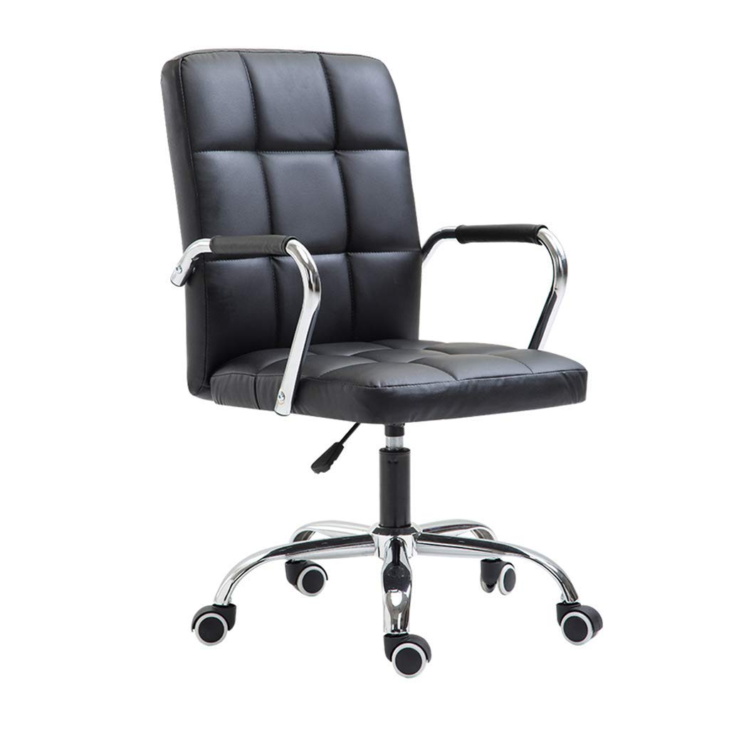 Desk Chairs Study Computer Chair Home Office Chair Company Staff Meeting Chair Office boss Chair Student seat Outdoor Living Room Leisure Swivel Chair (Color : Black, Size : 46cm46cm94cm)
