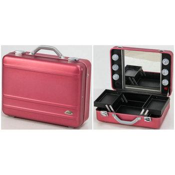 Sunrise Full Aluminum Suitcase With Lights Mirror Makeup Kits Box