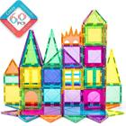 cossy Magnetic 3D Building Blocks Set Educational Construction Toys 60 Pcs Magnet Tiles for 3+ Year Kids