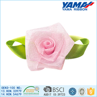 High grade nice polyester organza ribbon flower stage decoration