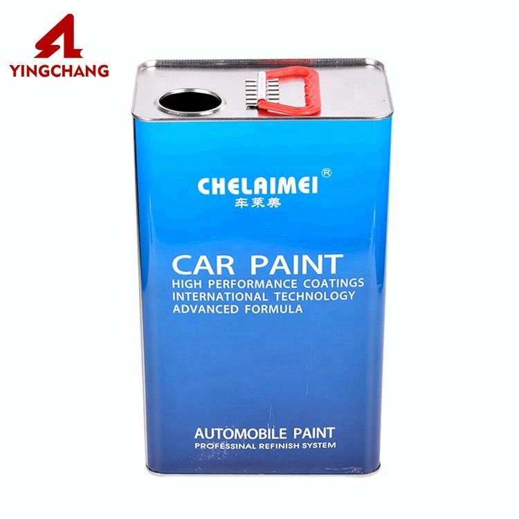 Custom car paint chemical tin box chemical can with plastic handle