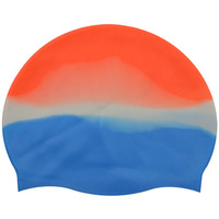 Manufacturer Colorful Combinations Custom Logo Silicone Colors Swim Caps Hats