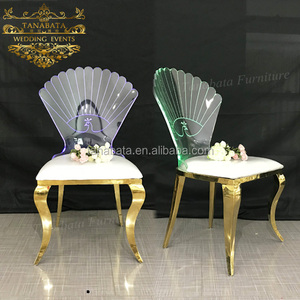 Romantic wedding banquet clear crystal cheap acrylic stacking chairs