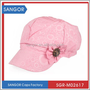Hottest attractive flat brim trucker mesh cap with sponge
