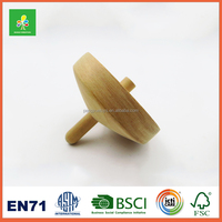 Wooden cheap kids toys spinning top for sale