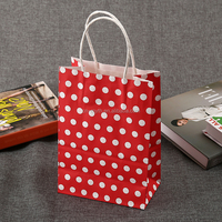 White Inside Kraft Paper Package Bag with Handle